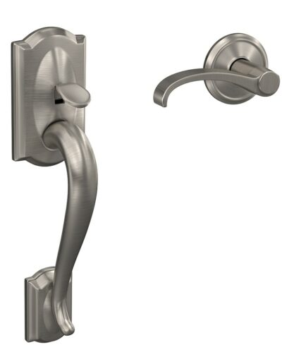 Camelot Handle with Whitney Lever in Satin Nickel